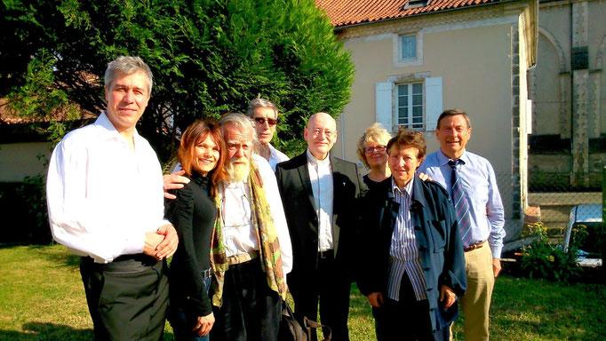 Michael Lonsdale à Nontron - Amis de l'orgue de Nontron - Juin 2015 - Jacqueline Poletto - Jean-Michel Gazonneau