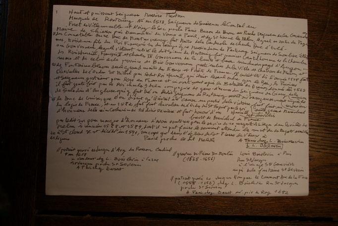 Texte de la gravure Rostaing