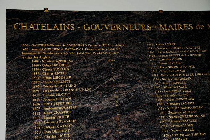 """Liste des Maires de Melun à l'Hôtel de Ville - """"1590 Tristan Rostaing"""""""