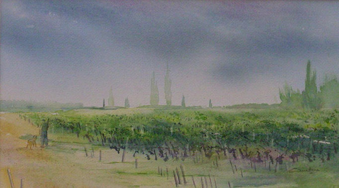 2-Chasseur dans les vignes 20x36 *(2010)