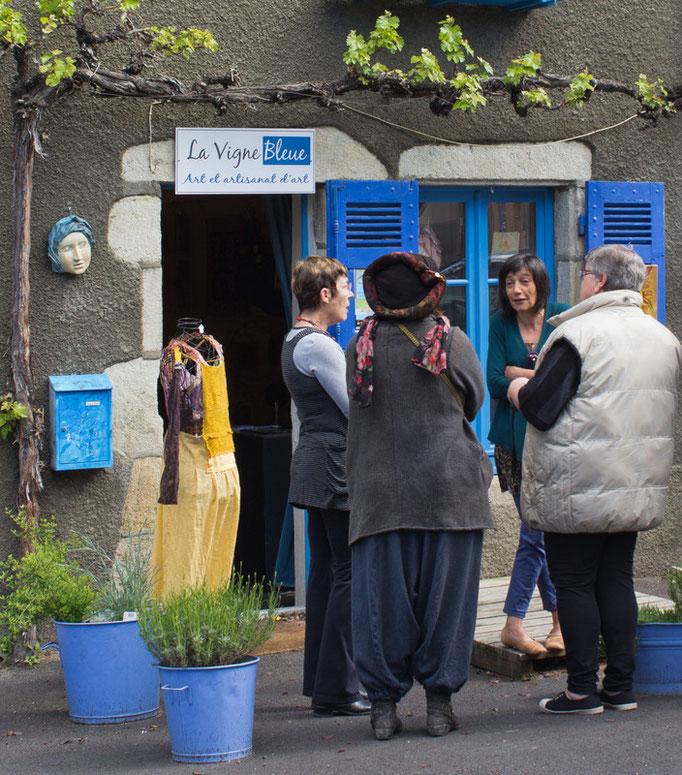 "La Vigne Bleue lors de la visite de la correspondante de ""La Montagne"""