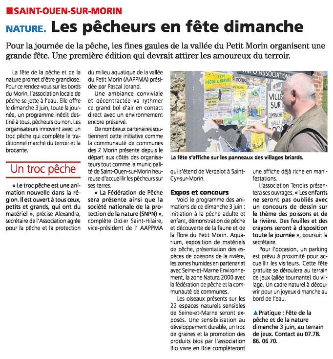 Le Pays Briard 29/05/2018