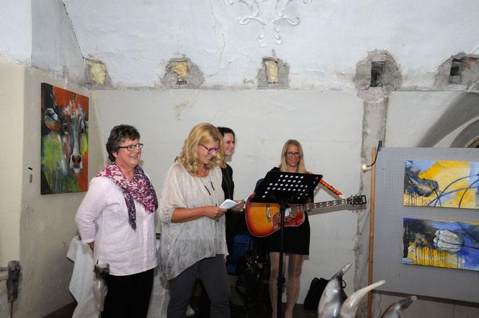 "Alte Senn "" Acryl trifft Keramik"" Tanja Trenker + Susanne Friedle"
