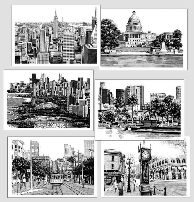 ニューヨーク ワシントン シカゴ ロサンゼルス サンフランシスコ バンクーバー