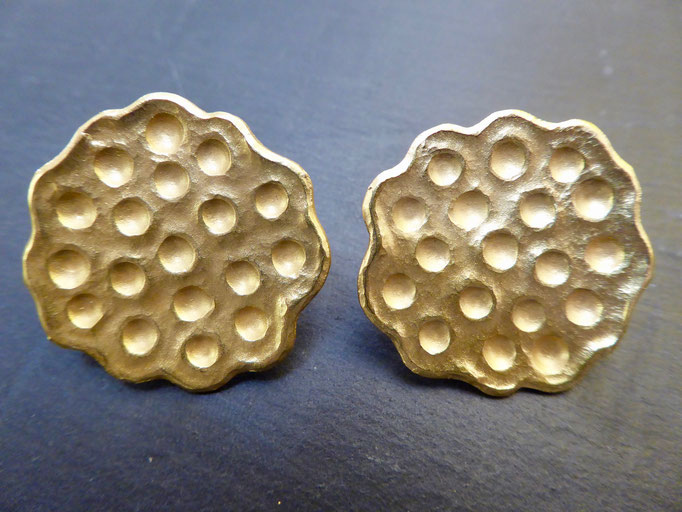 Ohrstecker Gelbgold 750 (zusätzlich vergoldet)