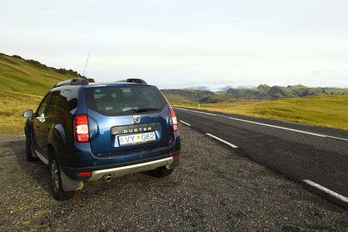 Notre petit 4x4 bien pratique en Islande