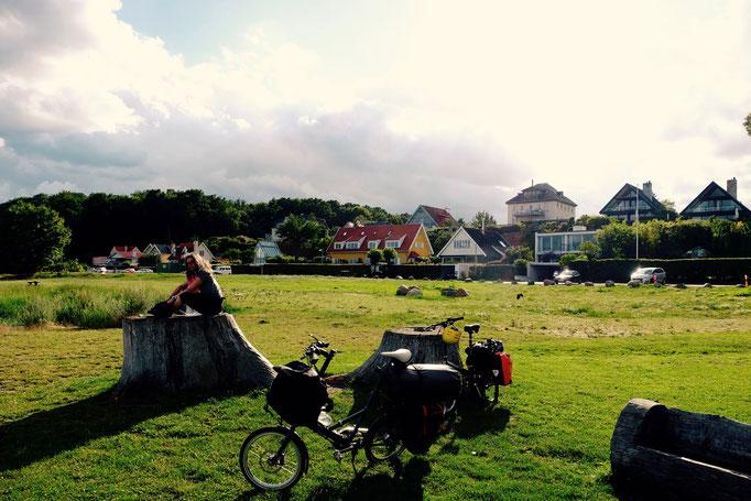 Dänemark, Humlebaek, Picknick