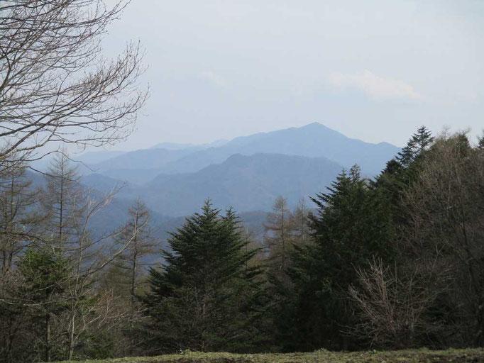 小屋前から眺められる大菩薩嶺