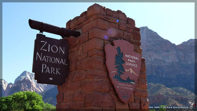 Zion NP (25$/Auto oder mit National-Pass) Visitor Center: N 37°12´00.5´´ W112°59´09.5´´