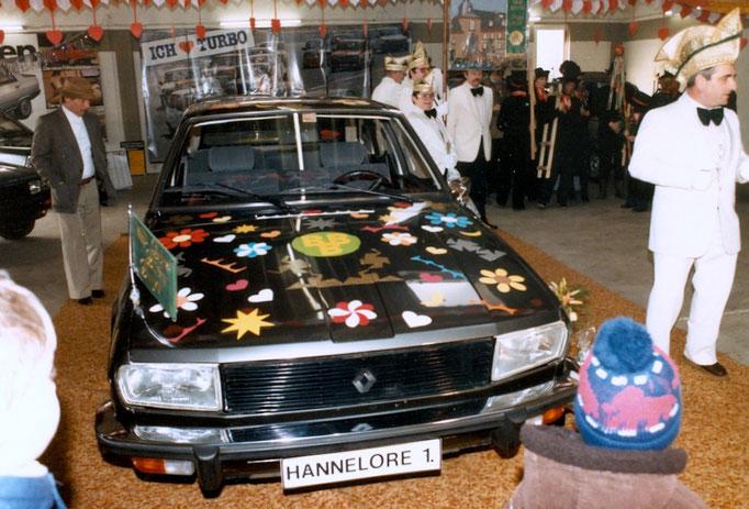 1984 - Prinzenwagenübergabe im Autohaus Wunsch