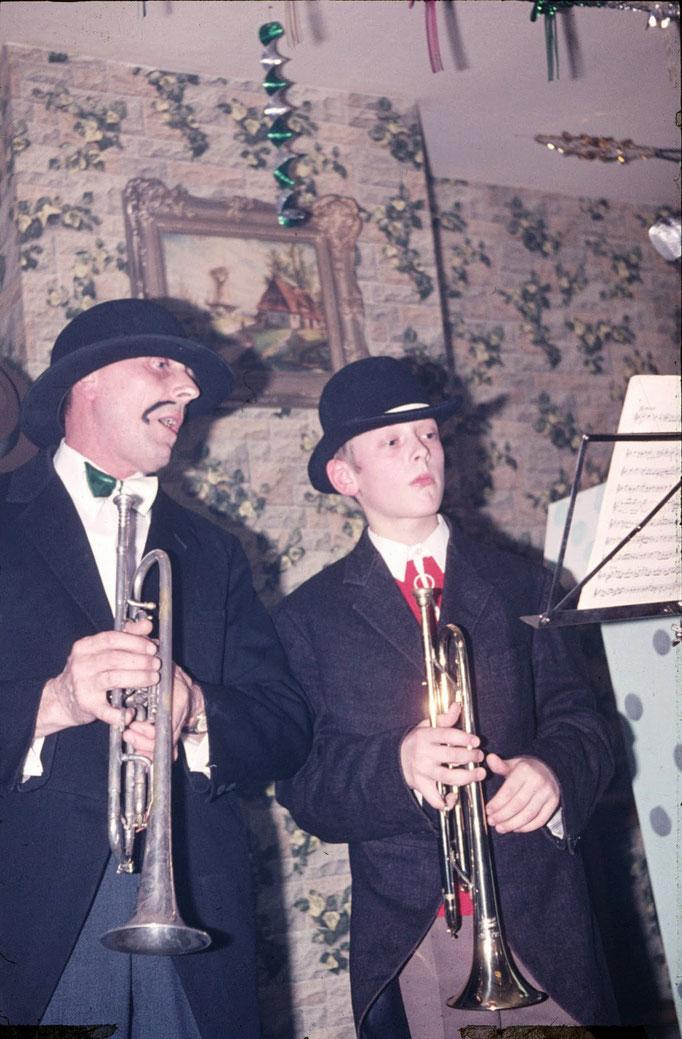 1972 - legendärer Auftritt von Franz und Günter Braun anlässlich der Inthronisation in der Gaststätte Gerwing