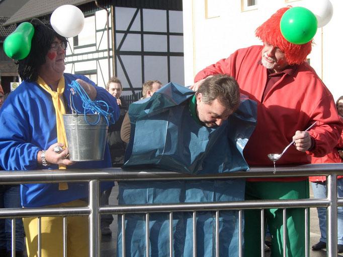"""2008 - Die Täufer (Herbert Wolff und Helmut Zilles) in ihrem """"nassen Element"""""""