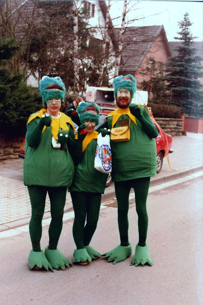 1980 - auch die Pfingstochsen finden Gefallen am Umzug