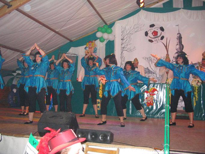 2006 - letzter Tanz der Pappmule auf einer Sitzung in Birgel