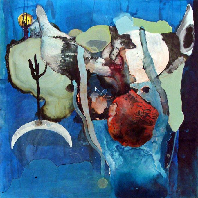 Half-Moon (Bull Series), 2012, acrylic/ink on canvas, 120 x 120 cm, € 1690.-