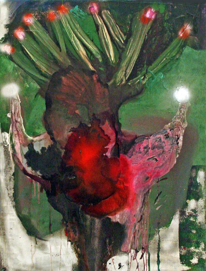 Festive (Bull Series), 2012, ink/acrylic/enamel on canvas, 105 x 80 cm, € 990.-