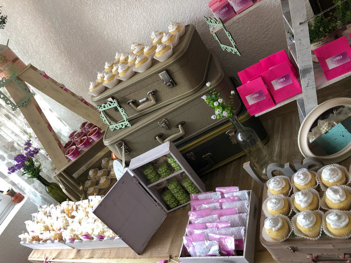 Mesa de dulces pink