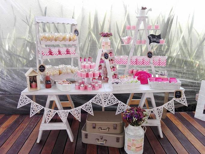 Mesas de dulces mexico borboleta mesa de dulces bautizos for Mesa de postres para xv