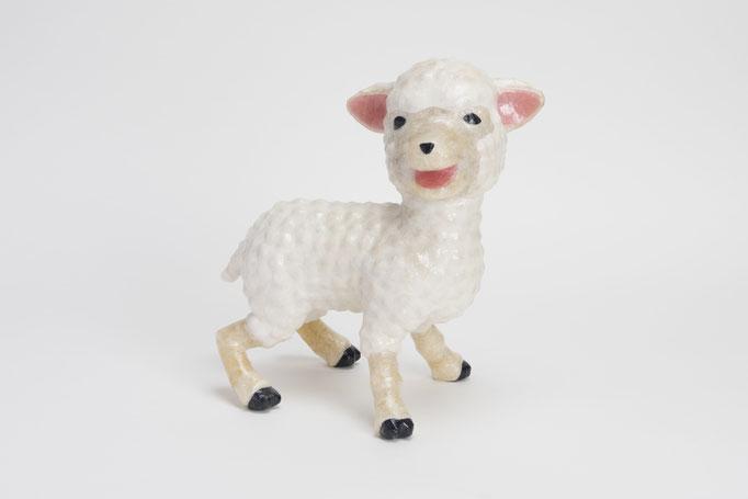 2015年 年賀作品 『子羊』/ セロテープ® 、特注カラーセロテープ / 23×23×14cm