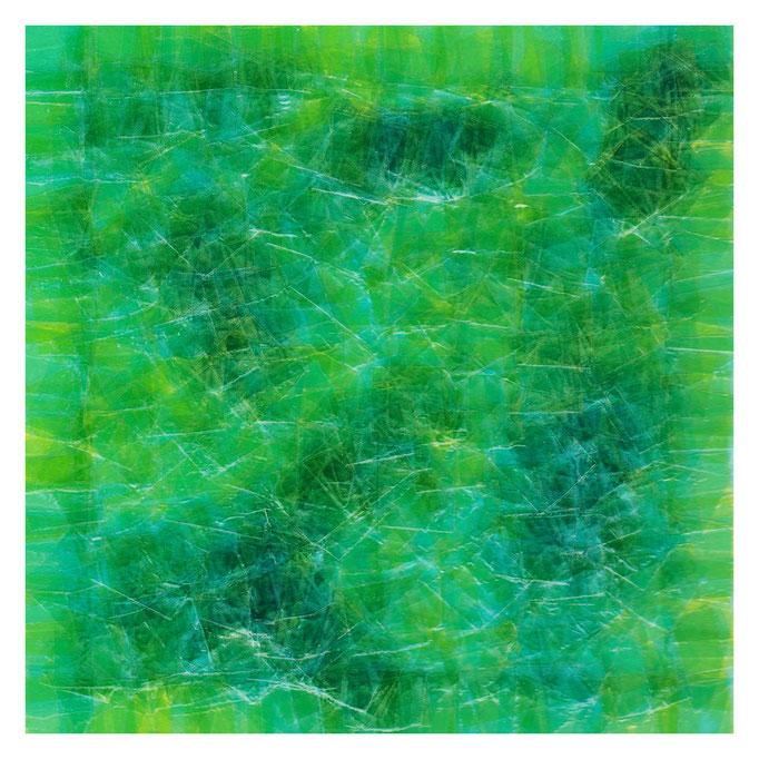 セロハン画™『Tape-layer Works.19』/ 2013年制作 / 特注カラーセロテープ / 15×15cm