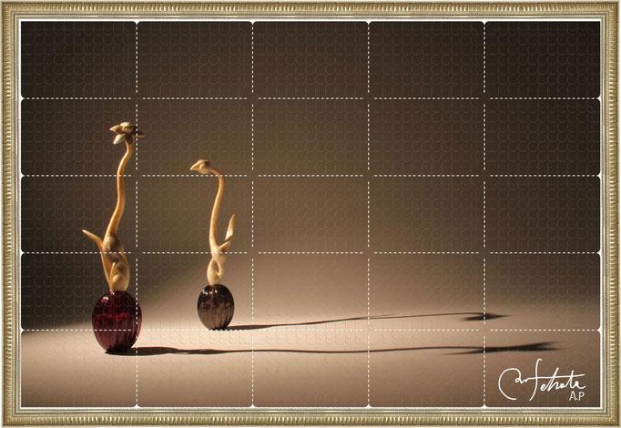 ラベル版画™『セロフラワー.3』/ 2013年制作 / 16mm丸ラベル 5,241片 / 96×64cm