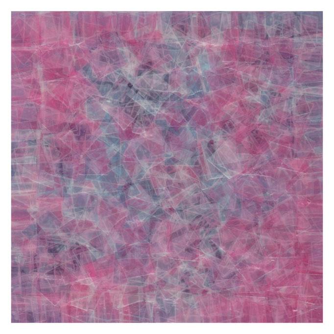セロハン画™『Tape-layer Works.18』/ 2013年制作 / 特注カラーセロテープ / 15×15cm