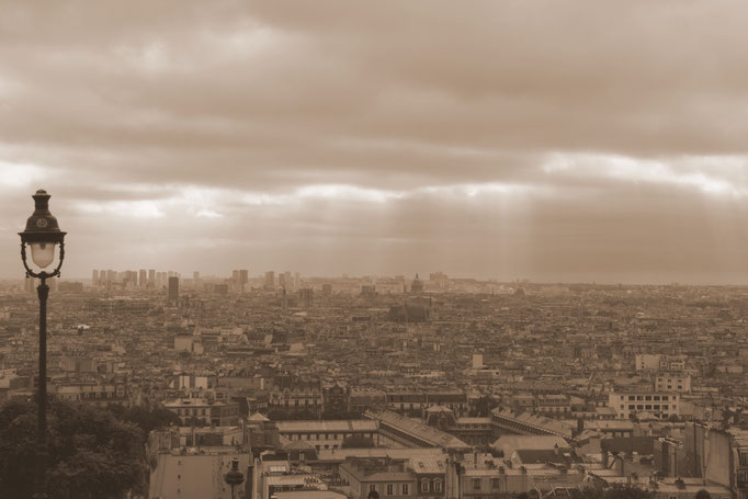 View from Montmartre, Paris, France
