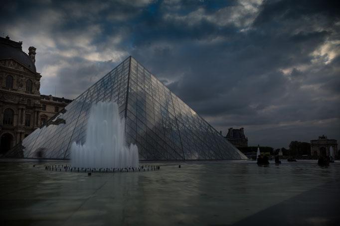 Louvre Pyramid, Paris, France (2106)