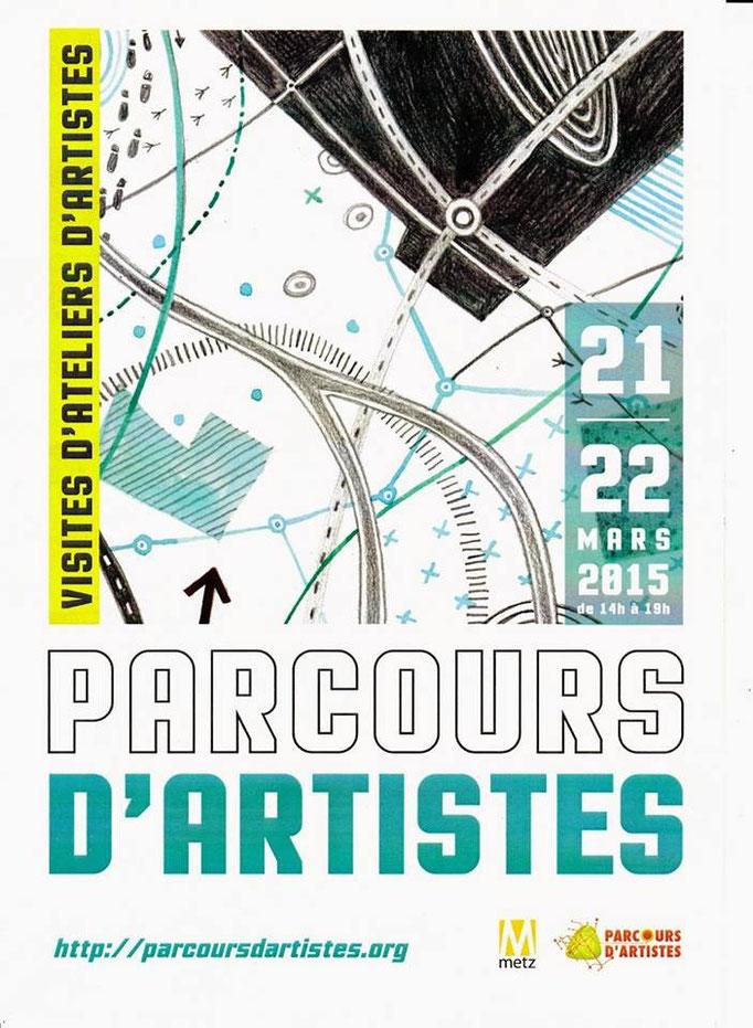 """affiche """"parcours d'artistes Metz, 2015"""""""