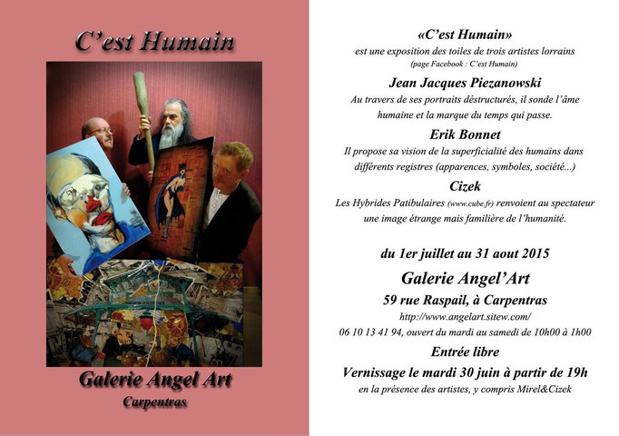 Flyer expo / Galerie Angel'Art - Carpentras