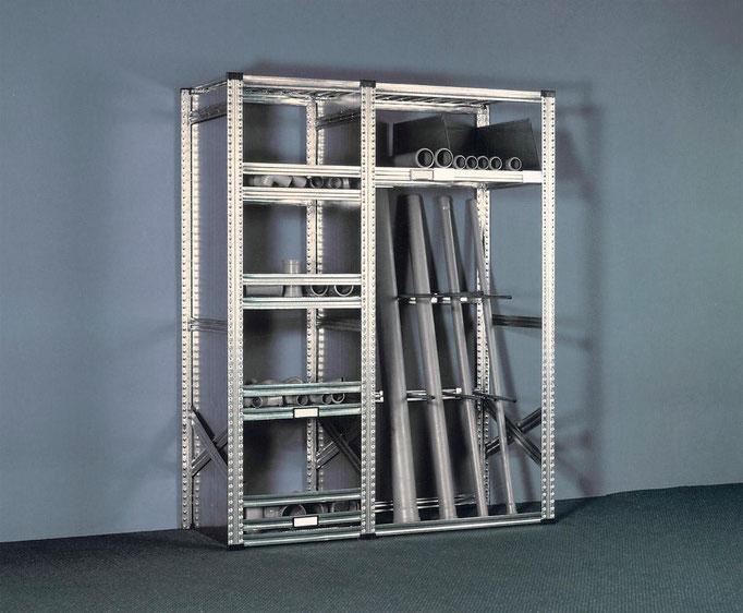 Werkstatt-Regal für Rohre