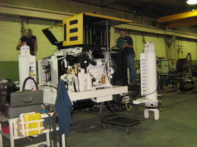 Atelier Gomaco avec montage d'une gomaco 6300 spécifique