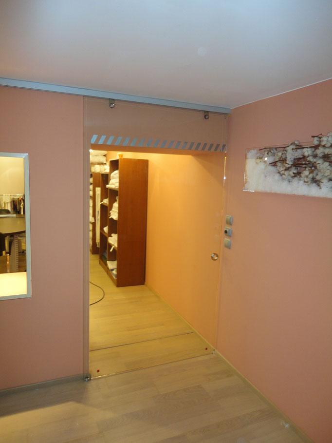 Κρύσταλλο πόρτα για γραφείο-Πόρτα διάφανη διπλή κρύσταλλο τζάμι σε πόρτα