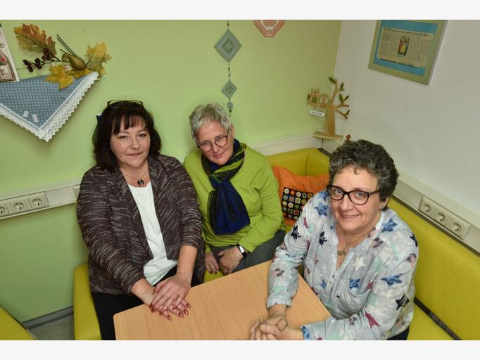 v.links Sabine Schultheis, Kirsten Moosrainer,Liane Erstmann