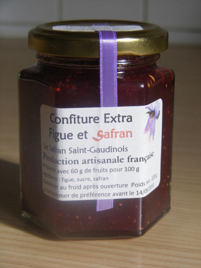 confiture extra figue Safran Saint-Gaudinois Haute-Garonne