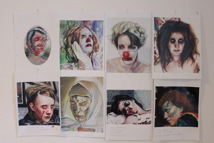 Entwurf nach Gemälden von Axel Pahlavi