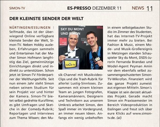 SIMON-TV in ES-PRESSO 12.2011