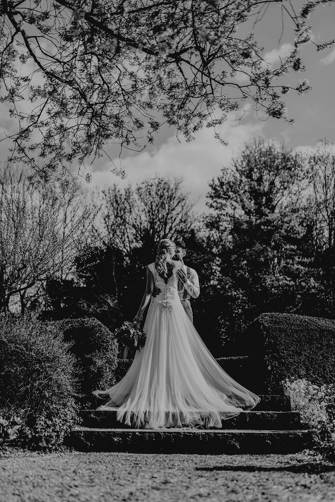 Hochzeitsfotos japanischer Garten Würzburg