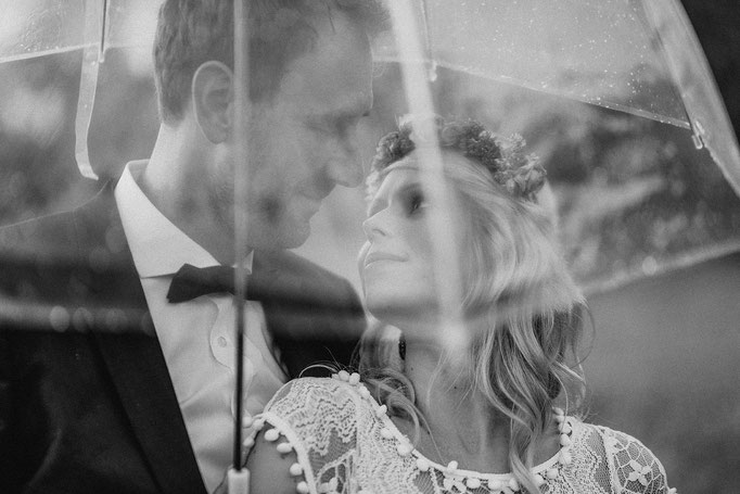 Hochzeit bei Regen