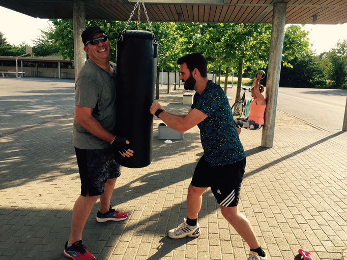 Training mit dem Boxsack