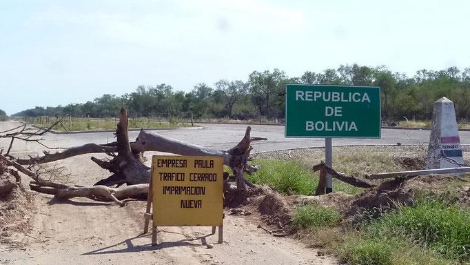 Grenzübergang von Paraguay nach Bolivien...