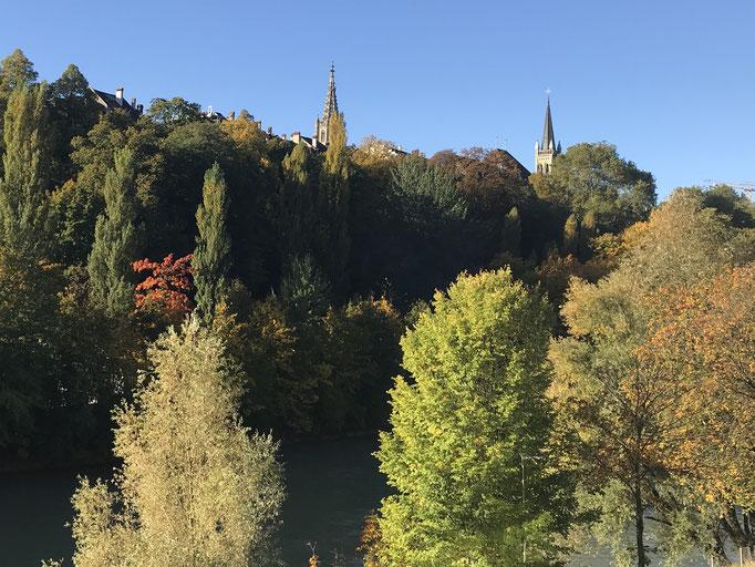 Oktober: Herbst am Aarehang.