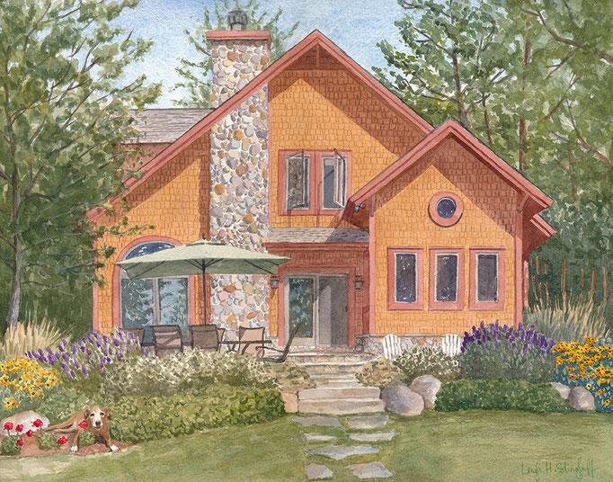 Michigan, 11 x 14, commission