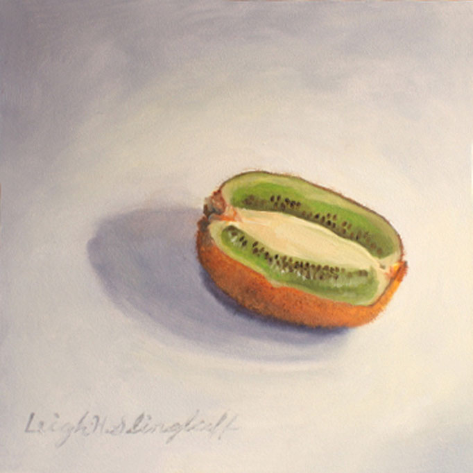"Kiwi, Oil on Panel, 6x6"" SOLD"