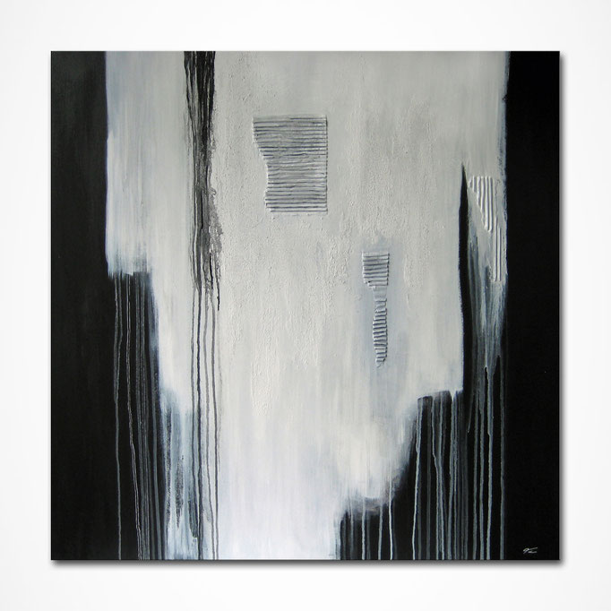 """Black White Abstract"" 100 x 100 cm"