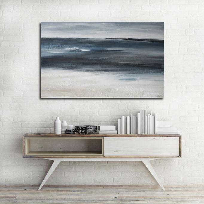 """Where The Ocean Meets The Sand"" 50 x 80 cm"