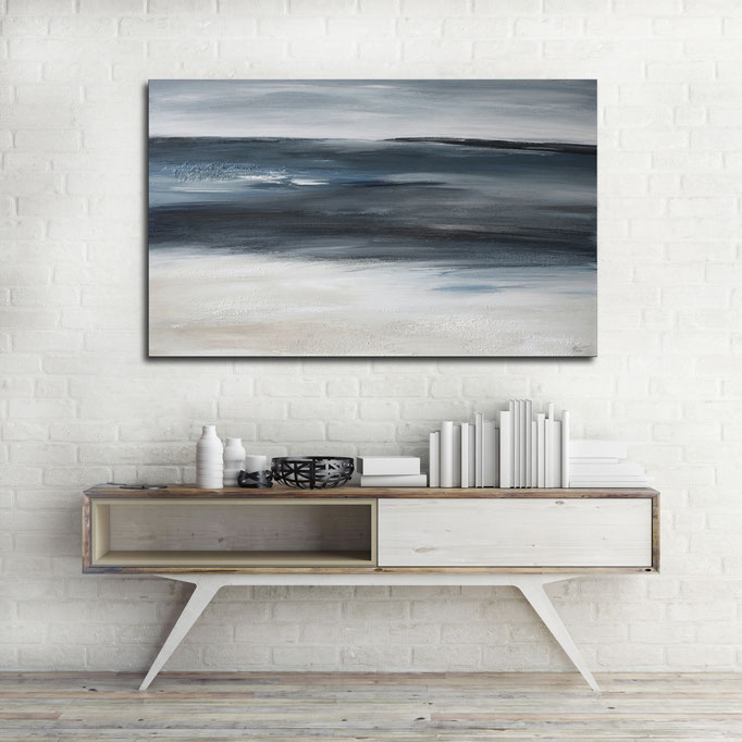 """Where The Ocean Meets The Sand"" 50 x 80 cm"