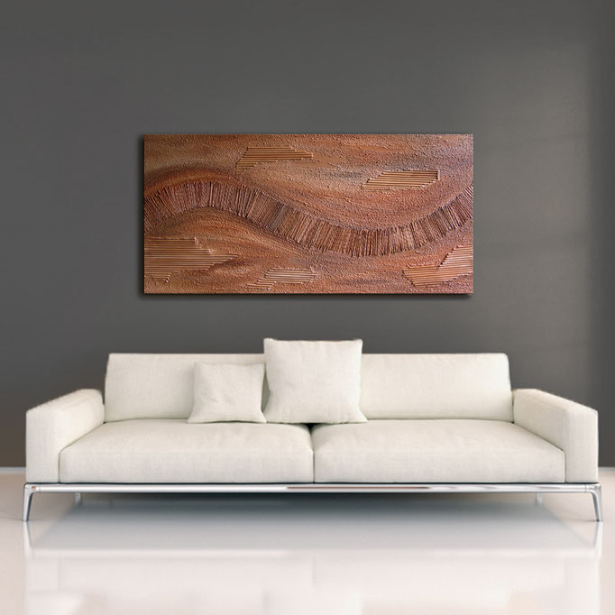 """Red Earth I"" 50 x 100 cm - sold/verkauft"