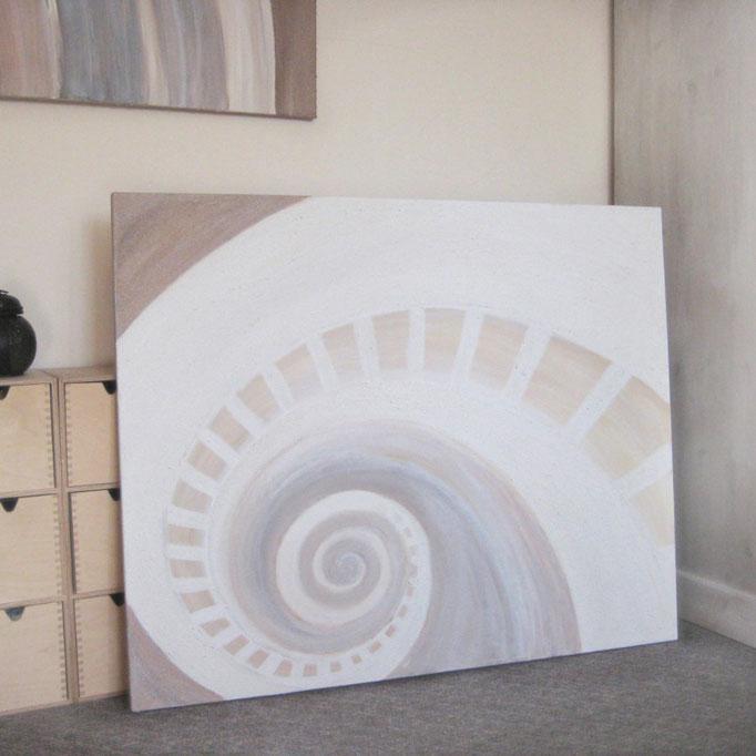 """White Nautilus"" 80 x 100 cm - sold/verkauft"
