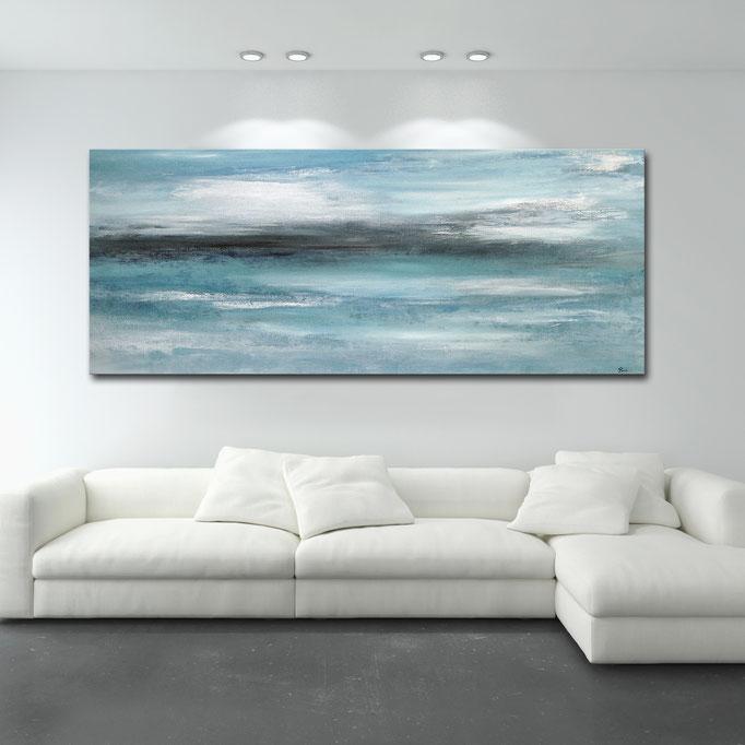 """Ocean"" 60 x 140 cm - sold/verkauft"